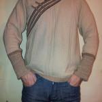 мужская кофт в национальном стиле. размеры- 46-54. цвет-светло-коричневый. стоимость-2500руб.
